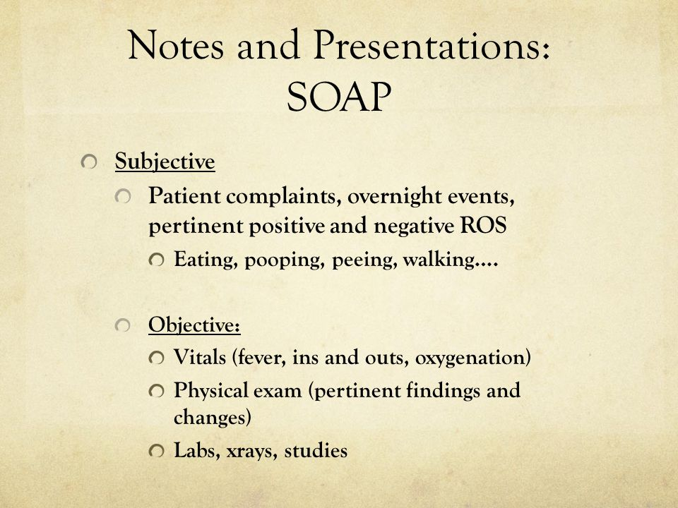 Notes and Presentations: SOAP