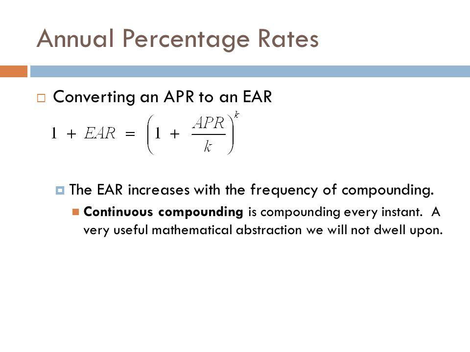 Annual Percentage Rates