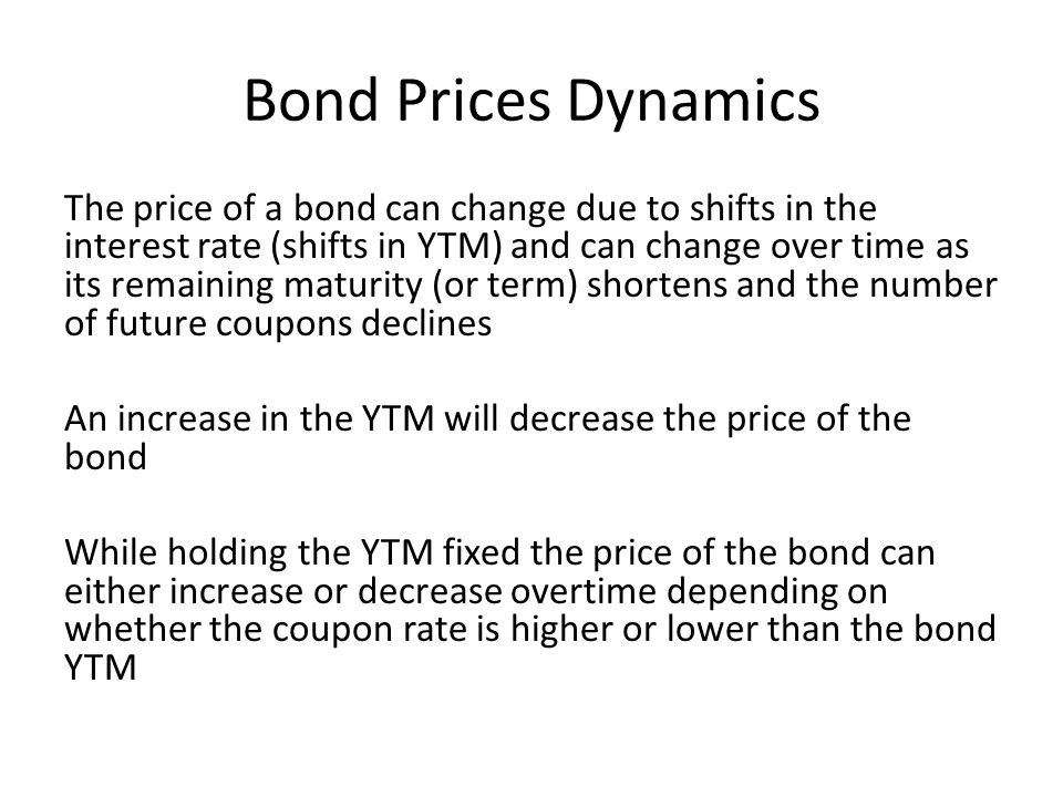 Bond Prices Dynamics