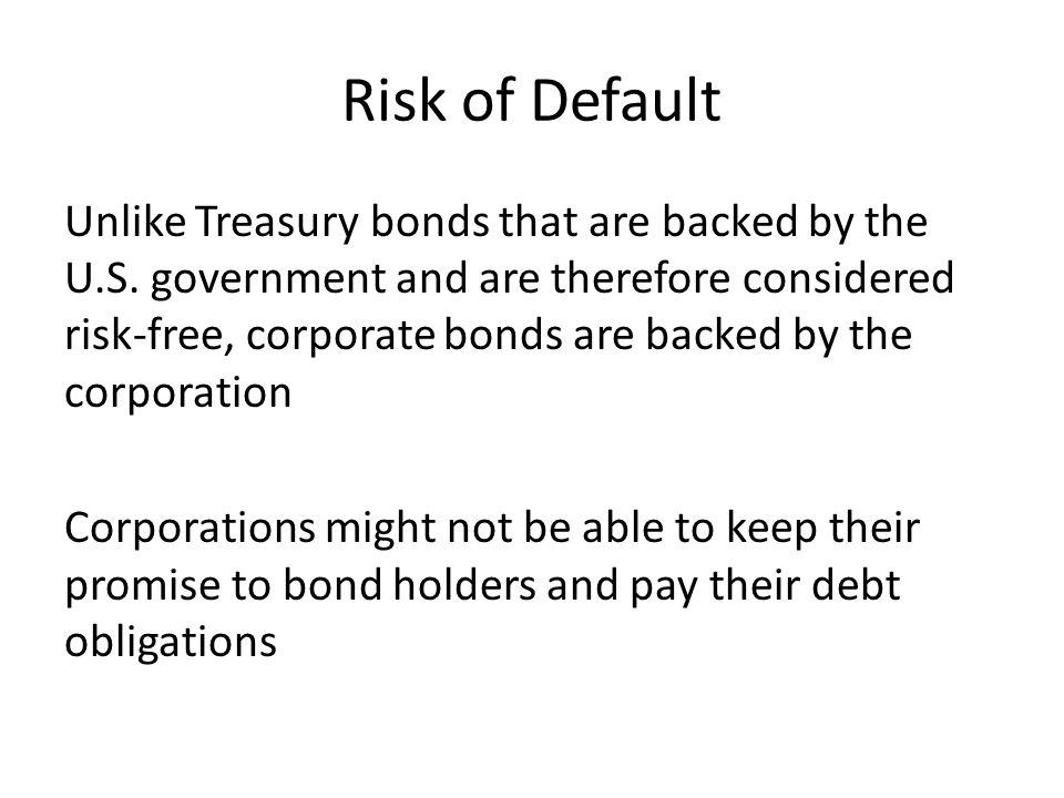 Risk of Default