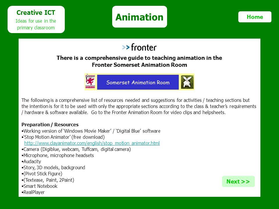 Animation Creative ICT Home