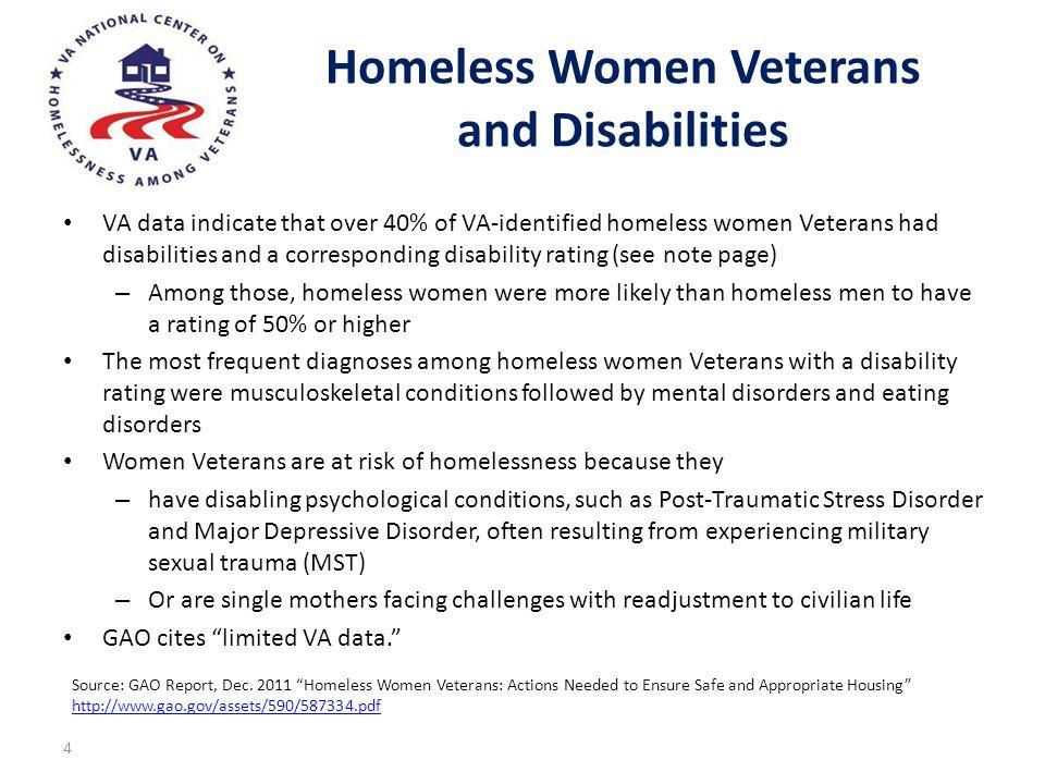 Homeless Women Veterans and Disabilities