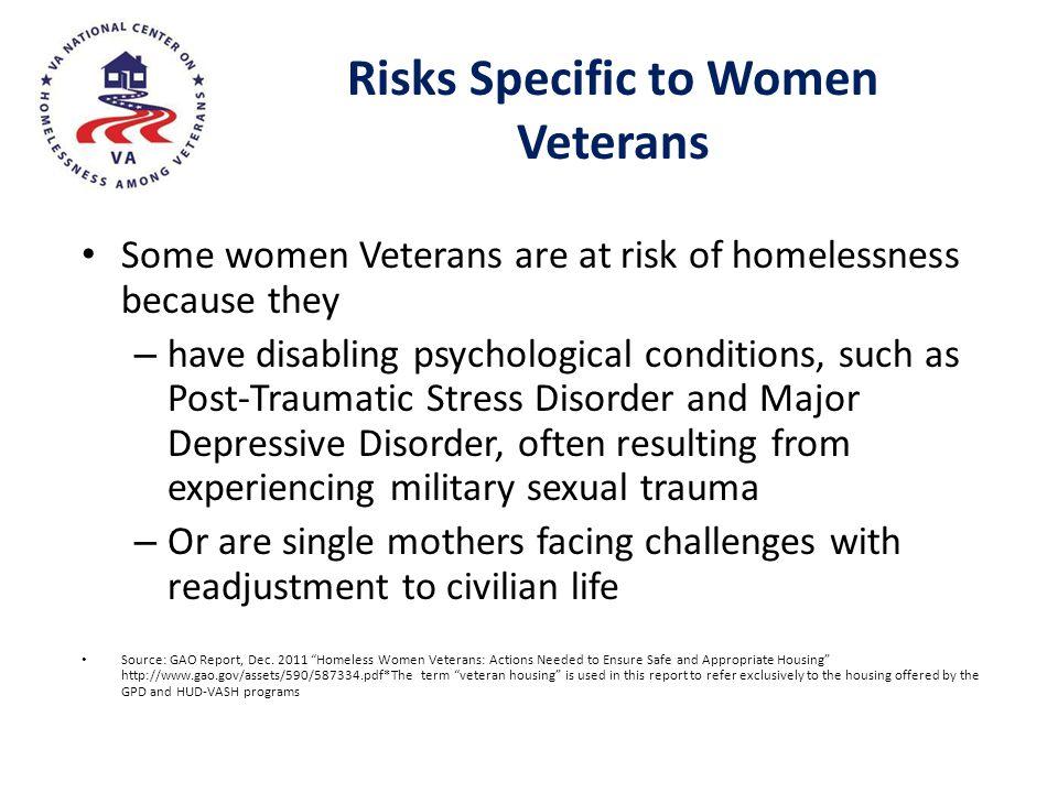 Risks Specific to Women Veterans