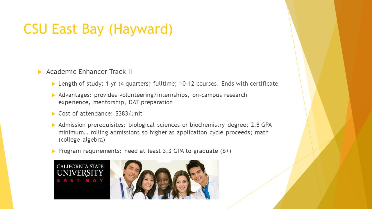 CSU East Bay (Hayward) Academic Enhancer Track II