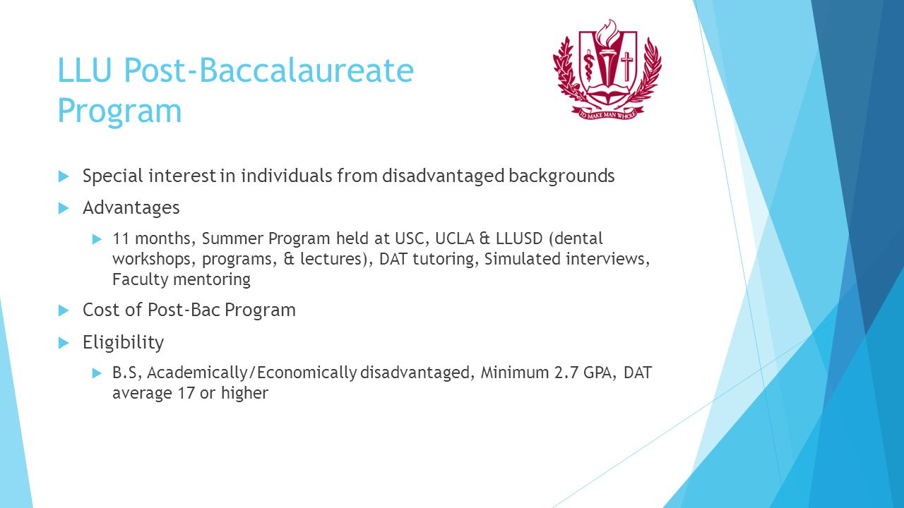 LLU Post-Baccalaureate Program