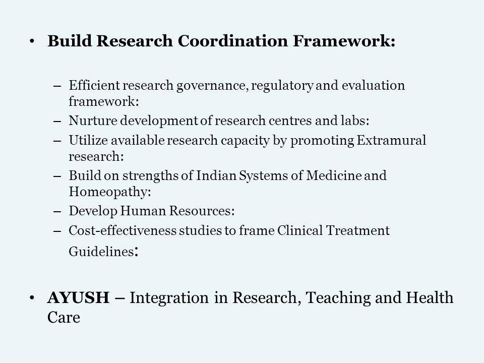 Build Research Coordination Framework: