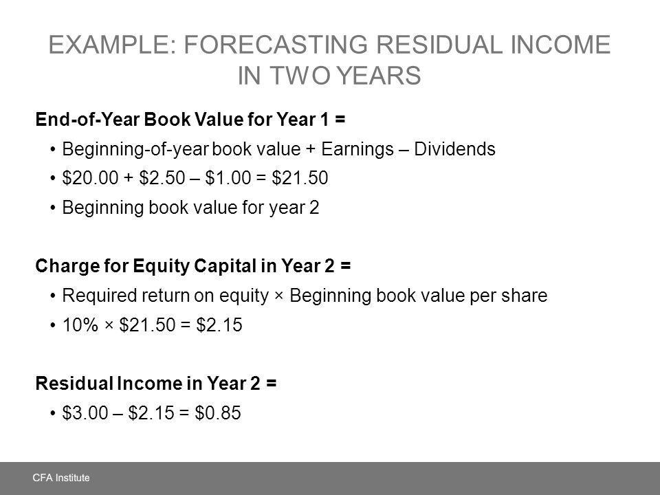 Example: Forecasting Residual Income in Two Years