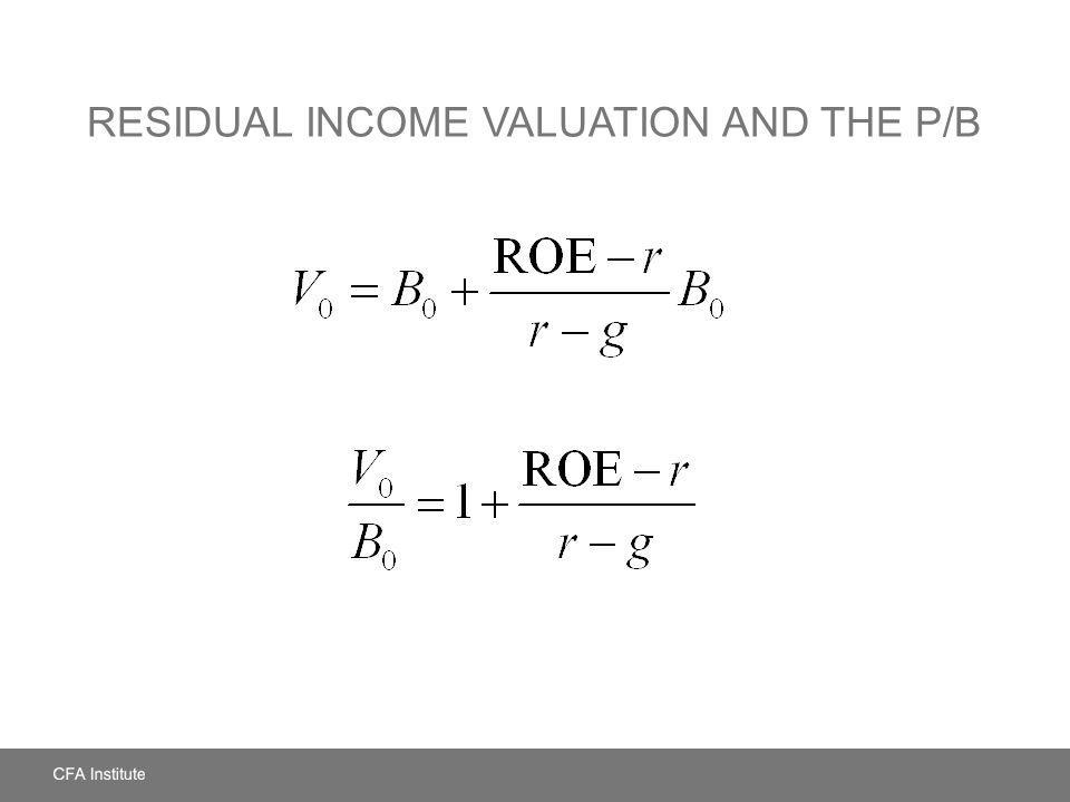 Residual Income Valuation and the P/B