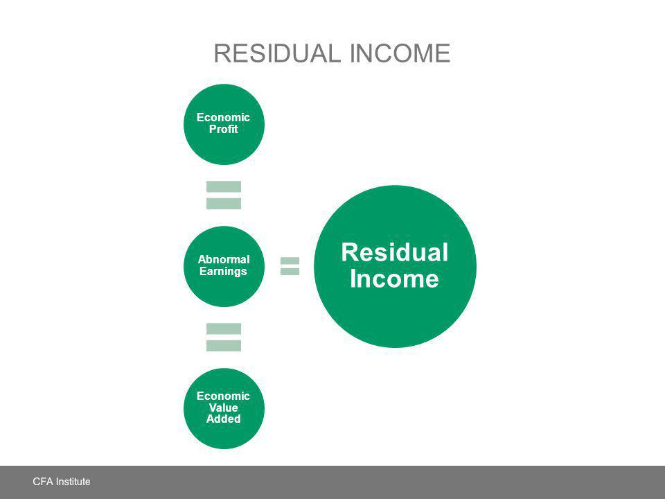 Residual Income Residual Income Economic Profit Abnormal Earnings
