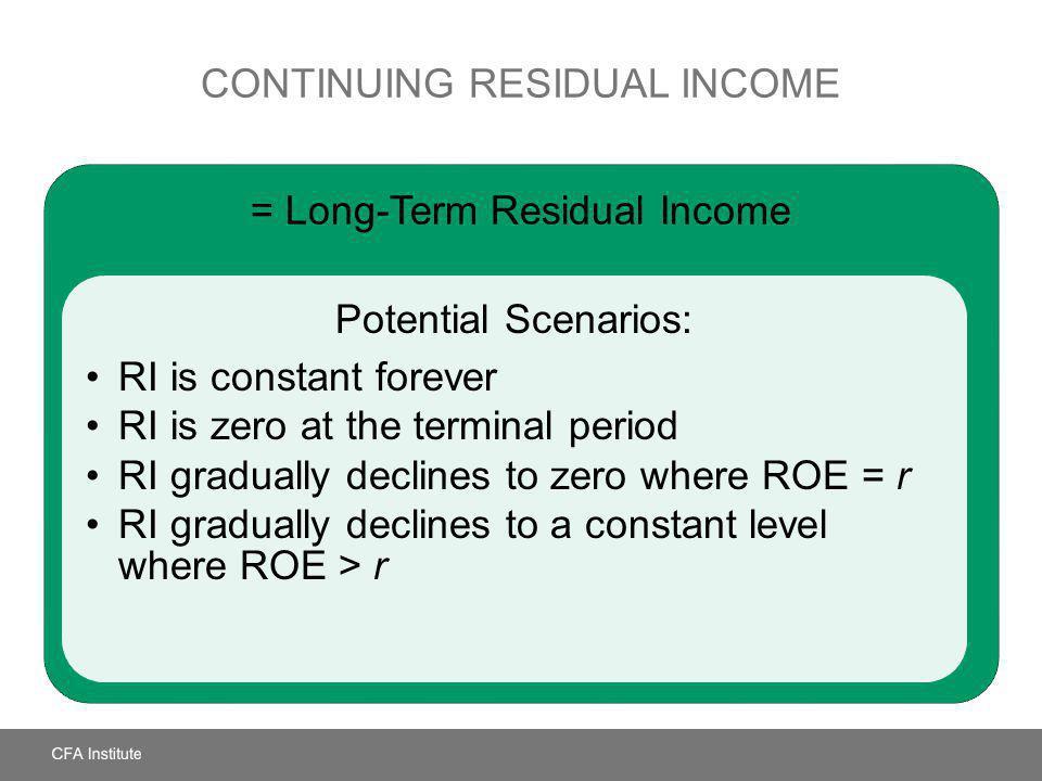 Continuing Residual Income