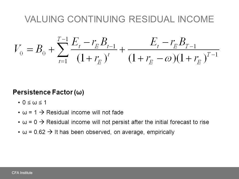 Valuing Continuing Residual Income