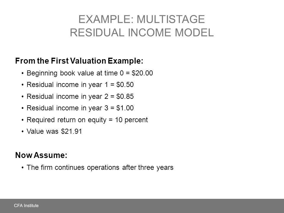 Example: Multistage Residual Income Model