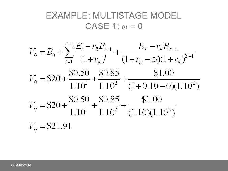 Example: Multistage Model Case 1:  = 0