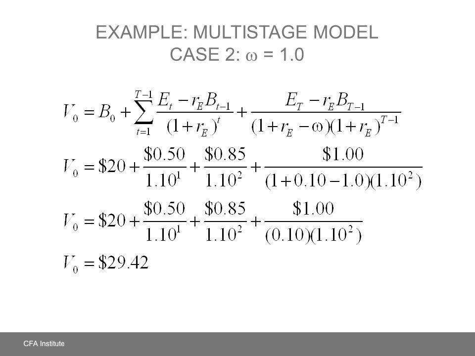 Example: Multistage Model Case 2:  = 1.0