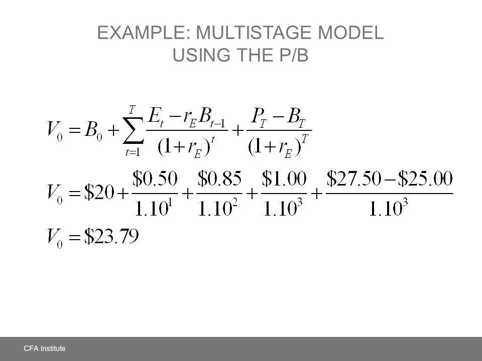 Example: Multistage Model Using the P/B