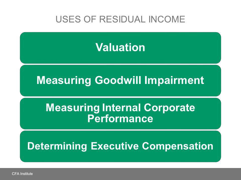 Uses of Residual Income