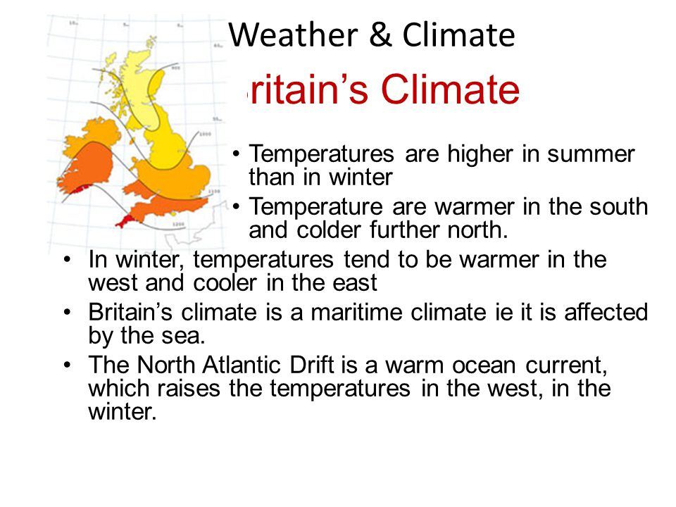 Britain's Climate Weather & Climate