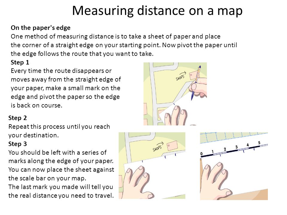 Measuring distance on a map