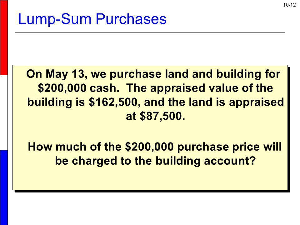 Lump-Sum Purchases