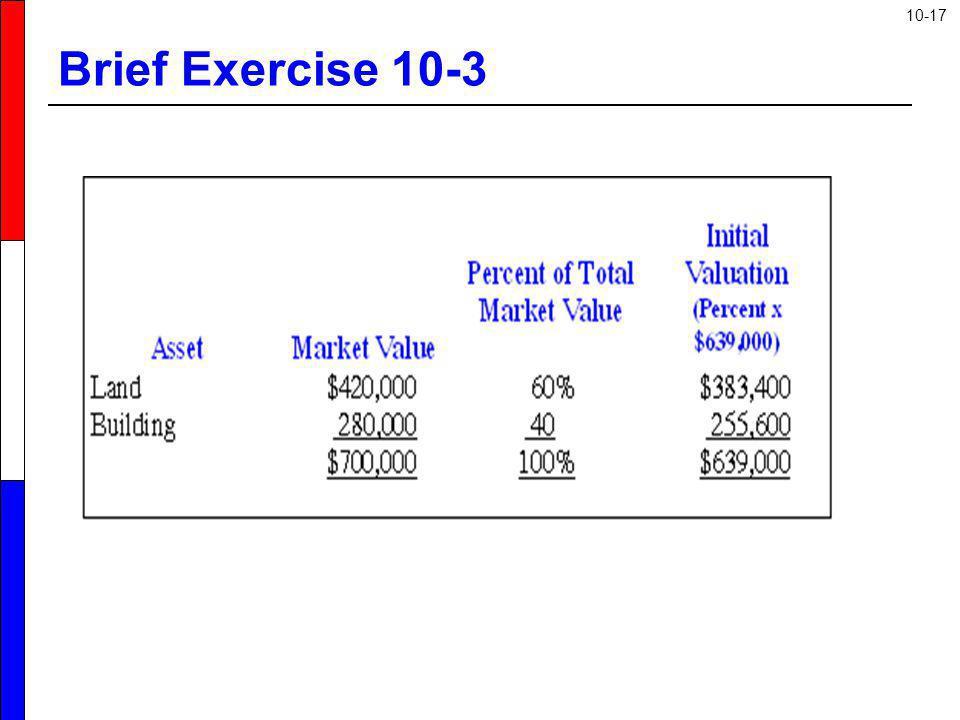 Brief Exercise 10-3