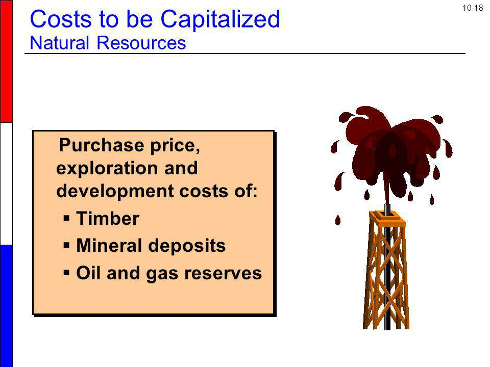 Costs to be Capitalized Natural Resources