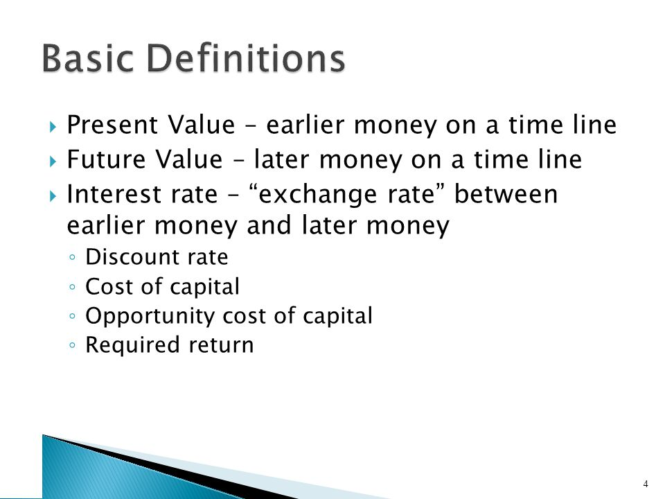 1. Future Values Suppose you invest $1,000 for one year at 5% per year. What is the future value in one year