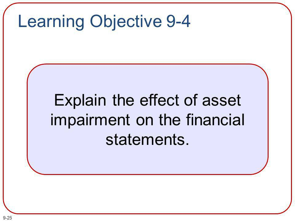 Explain the effect of asset impairment on the financial statements.