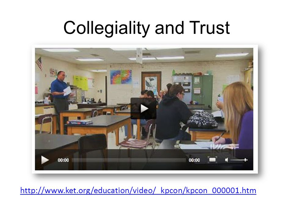 Collegiality and Trust