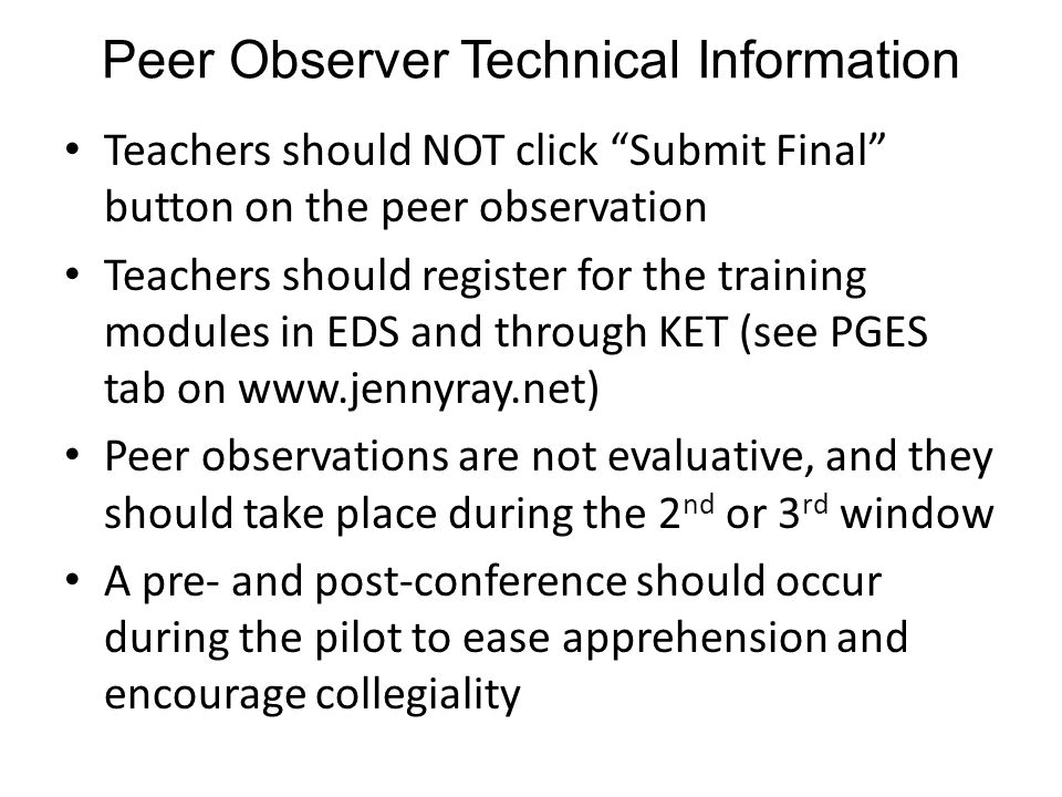 Peer Observer Technical Information