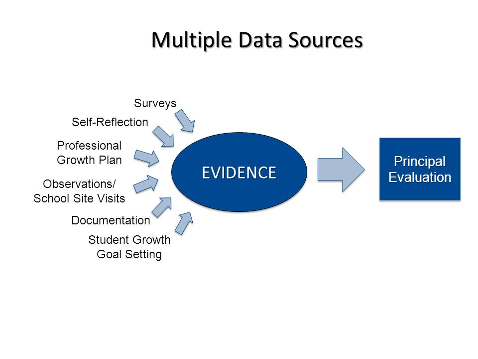 Multiple Data Sources EVIDENCE Principal Evaluation Surveys
