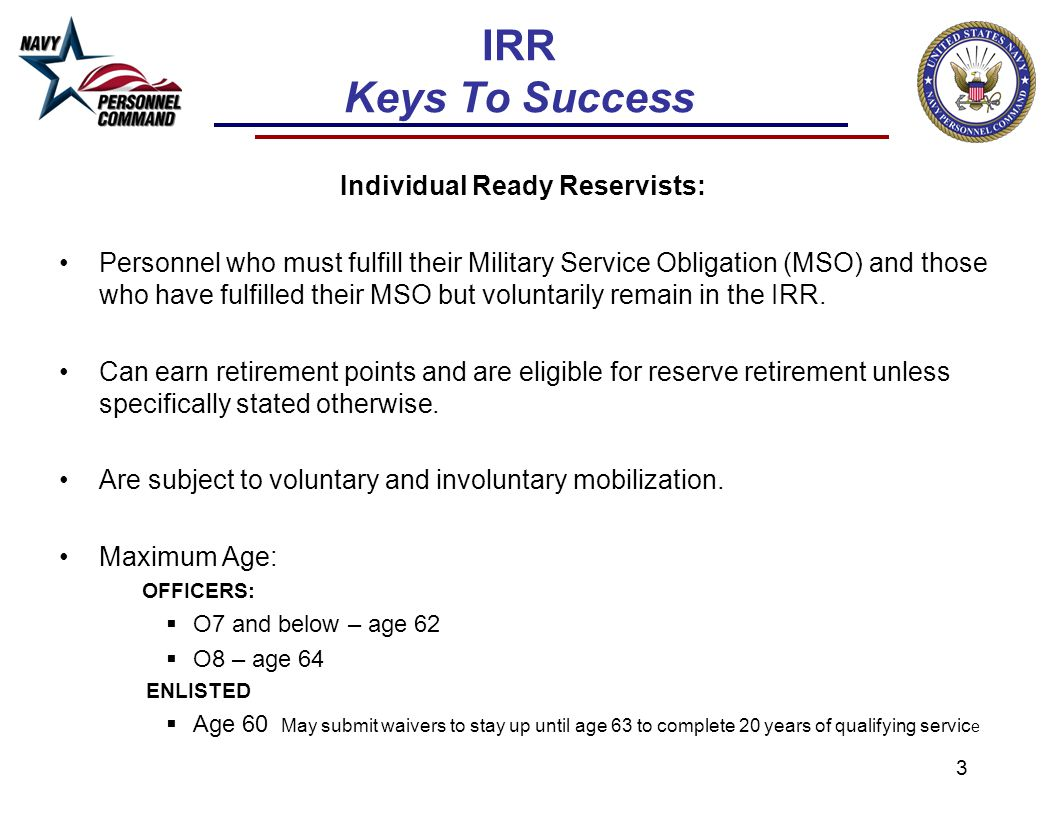 Individual Ready Reservists: