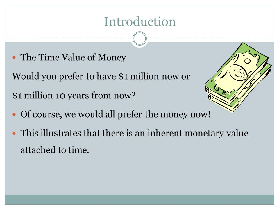 Introduction The Time Value of Money