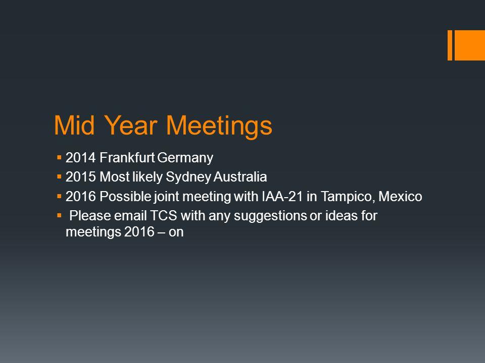 Mid Year Meetings 2014 Frankfurt Germany