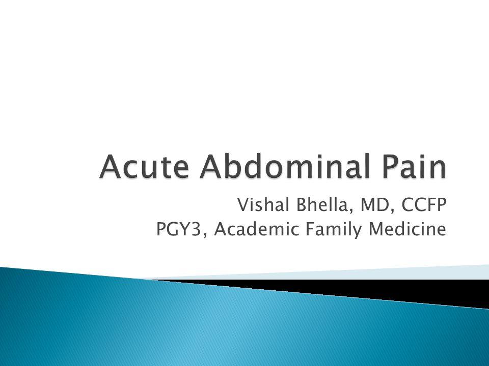 Vishal Bhella, MD, CCFP PGY3, Academic Family Medicine