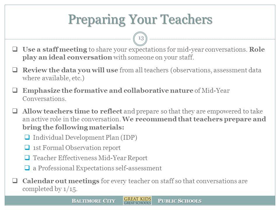 Preparing Your Teachers