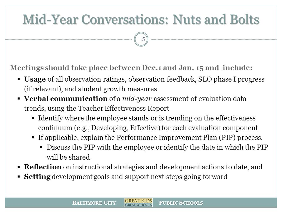 Mid-Year Conversations: Nuts and Bolts