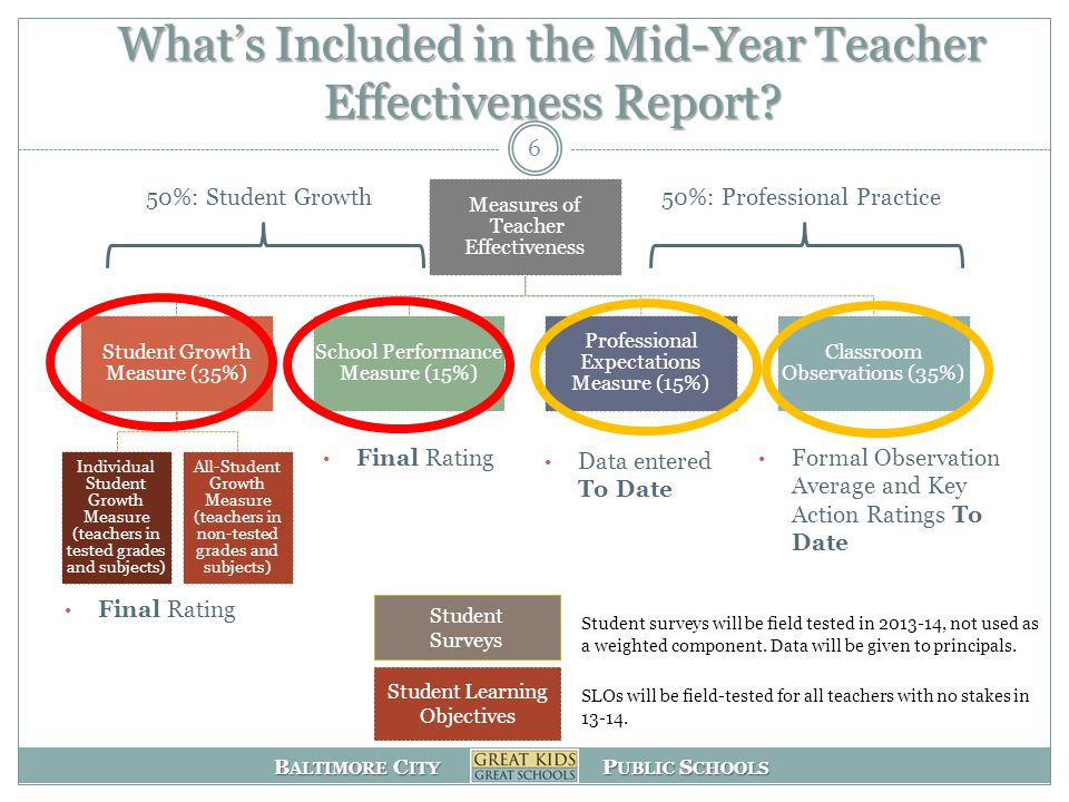 What's Included in the Mid-Year Teacher Effectiveness Report
