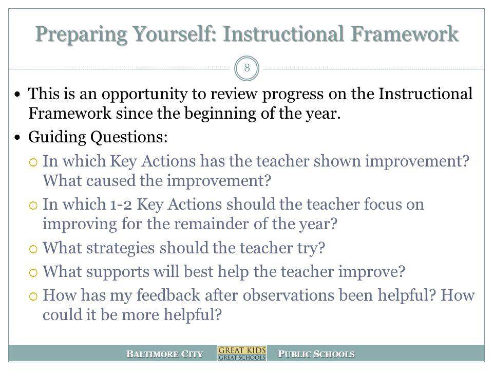Preparing Yourself: Instructional Framework