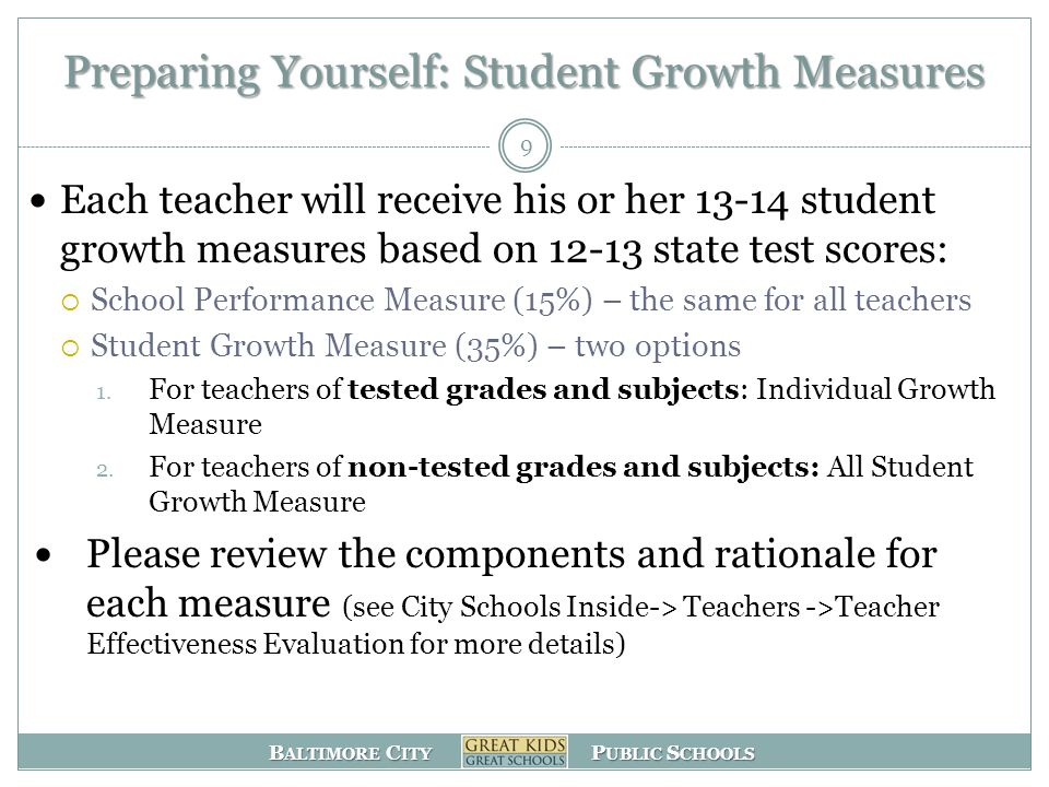Preparing Yourself: Student Growth Measures