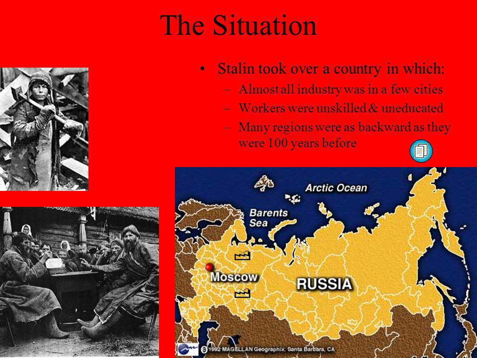 The Situation Stalin took over a country in which: