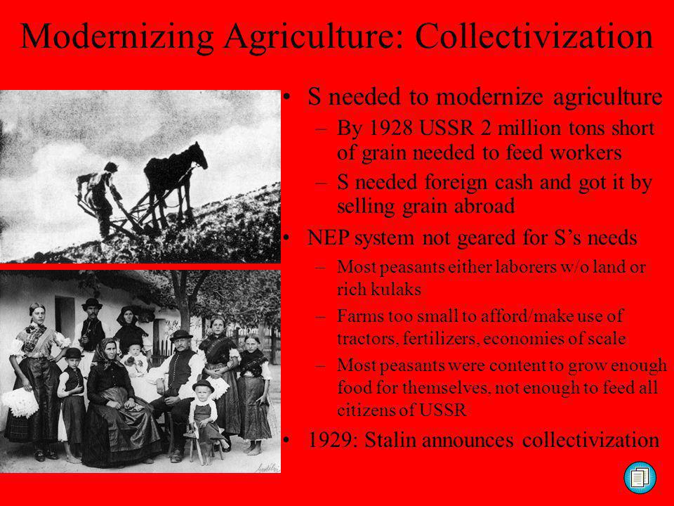 Modernizing Agriculture: Collectivization