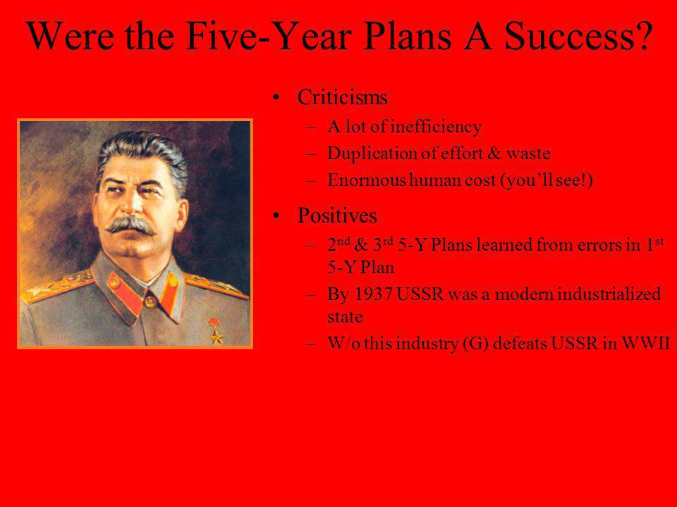 Were the Five-Year Plans A Success
