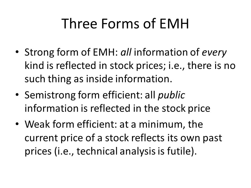 Three Forms of EMH