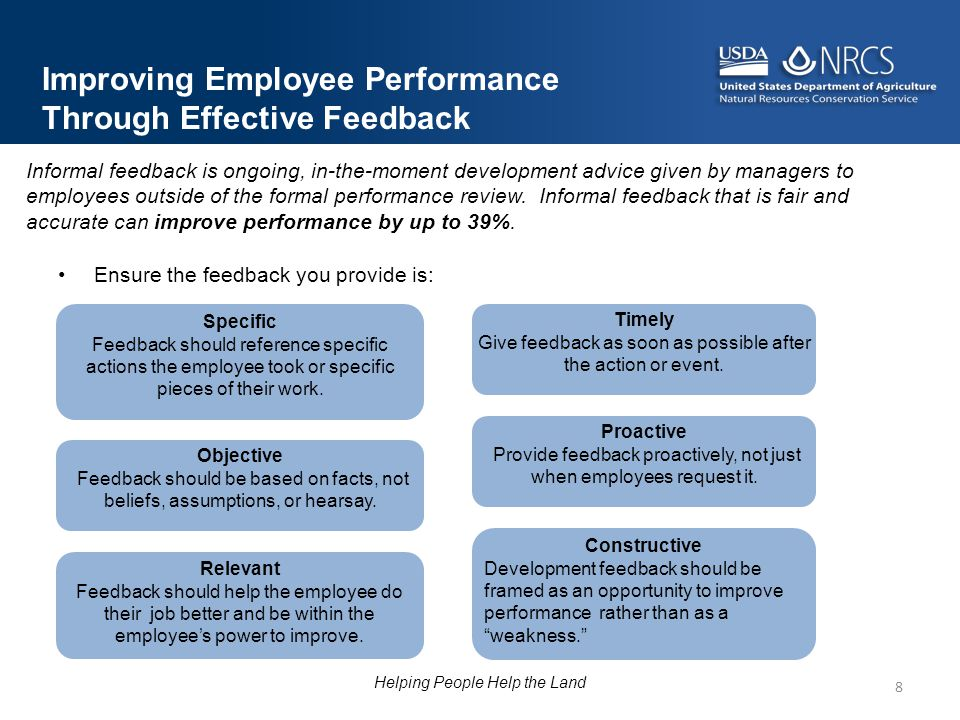 Improving Employee Performance Through Effective Feedback
