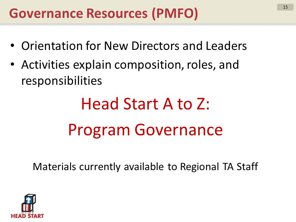 Governance Resources (PMFO)