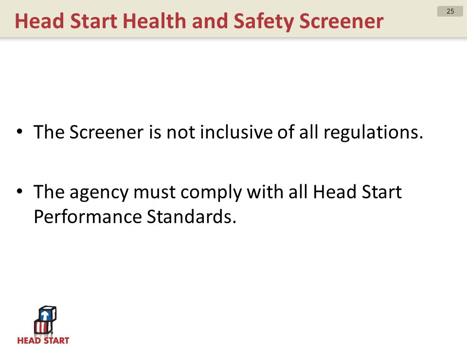 Head Start Health and Safety Screener