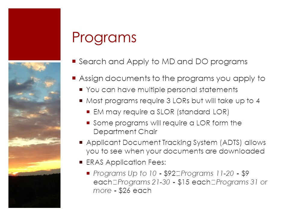 Programs Search and Apply to MD and DO programs
