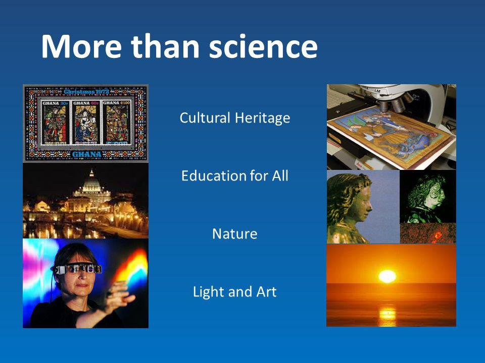 More than science Cultural Heritage Education for All Nature