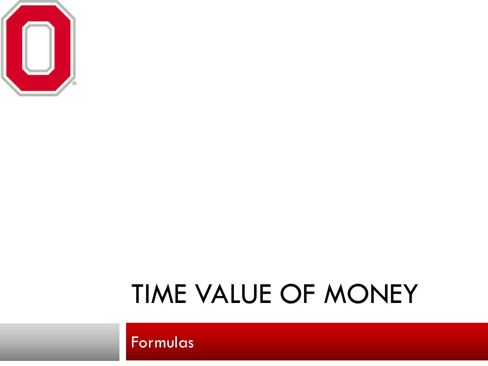 Time value of money Formulas