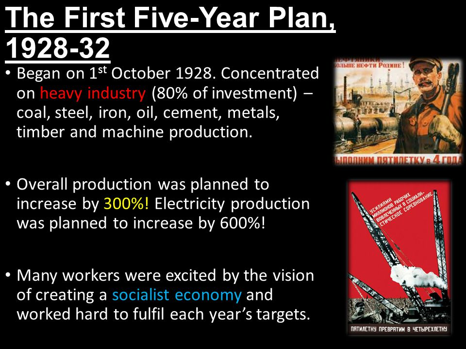 The First Five-Year Plan, 1928-32